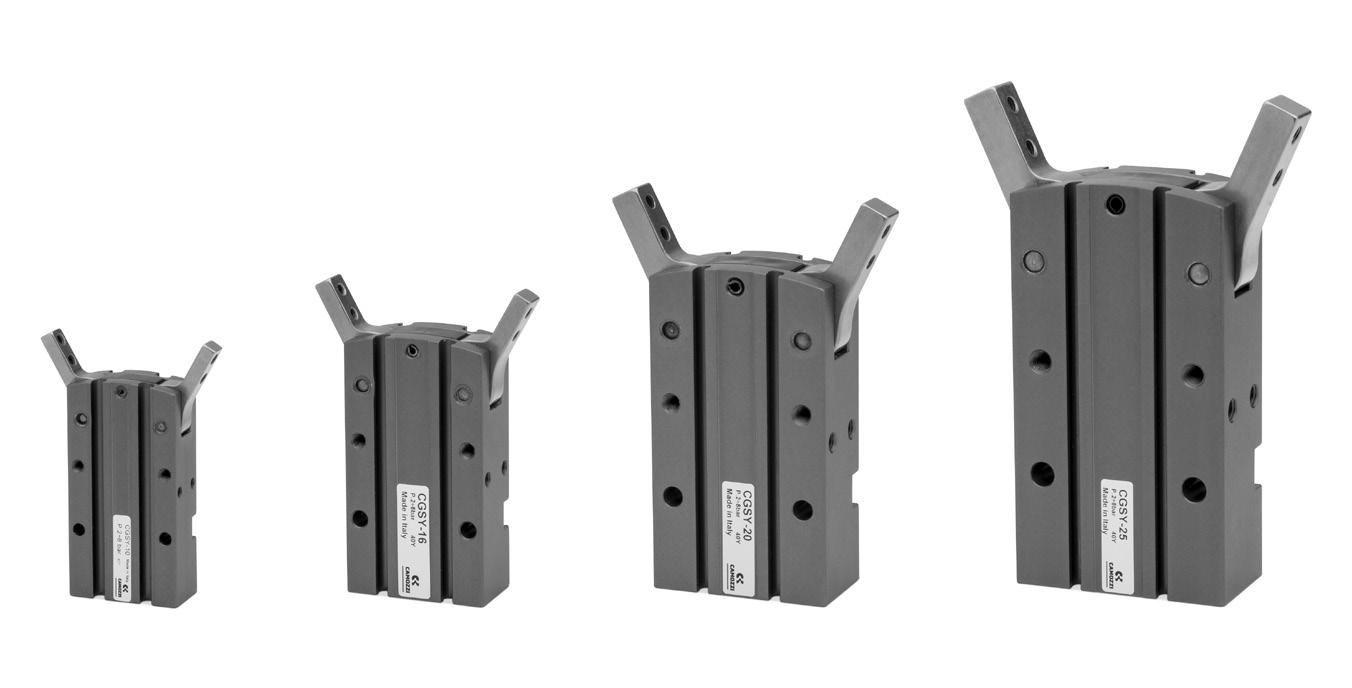 Serie CGSY – Pinzas radiales apertura 180 °